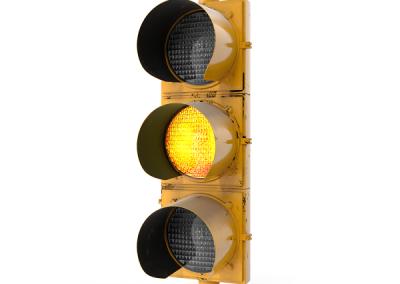 Traffic Light Yellow.sky-driving-school