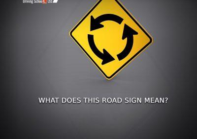 Circular Intersection Warning Sign-sky driving school