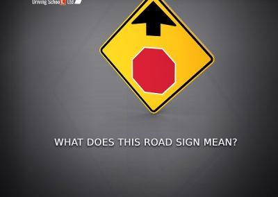 Stop Ahead Traffic Sign-sky driving school