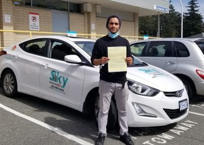 A Happy man just pass his ICBC road test